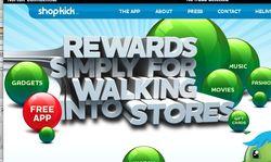 Shopkick foursquare google facebook location mobile app
